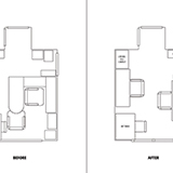 Office Layout, before and after